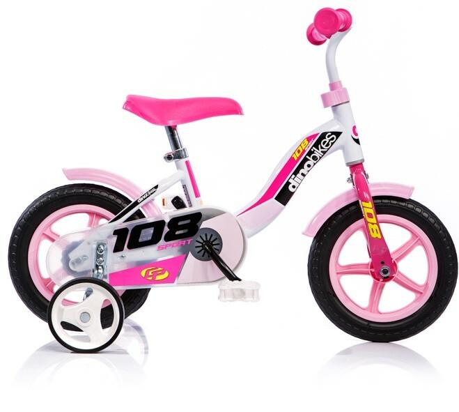"""DINO Bikes - Detský bicykel 10"""" 108LG - ružový 2017"""