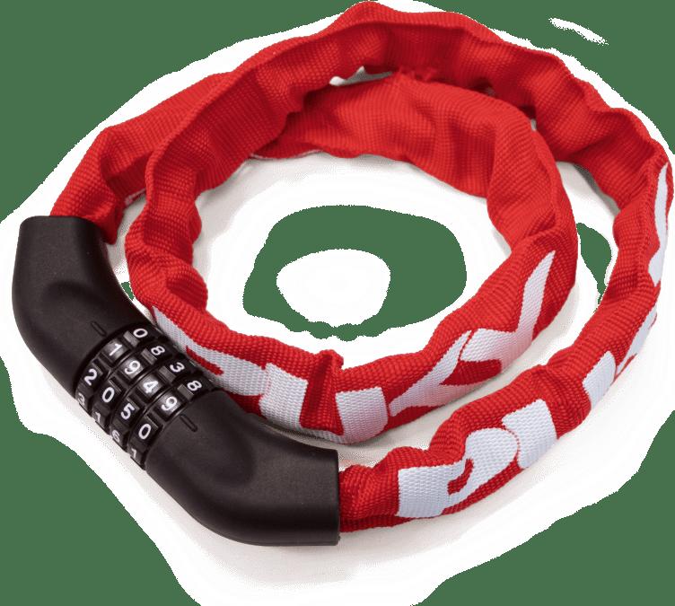 PUKY Bezpečnostný káblový zámok KS 2 red