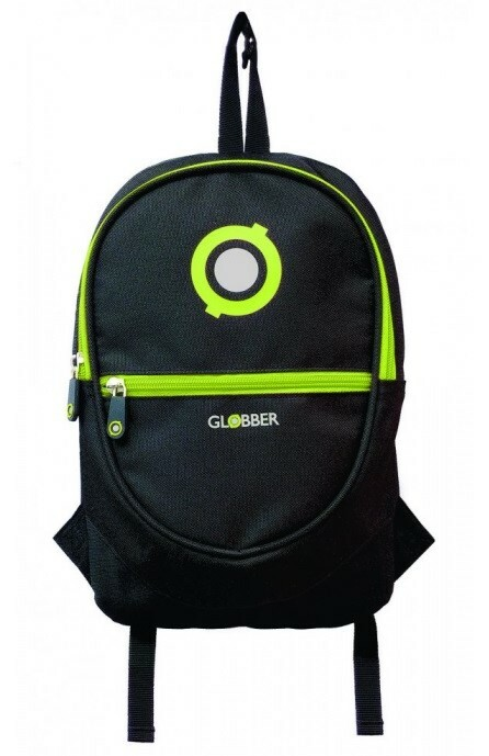 Globber Junior ruksak black / lime green