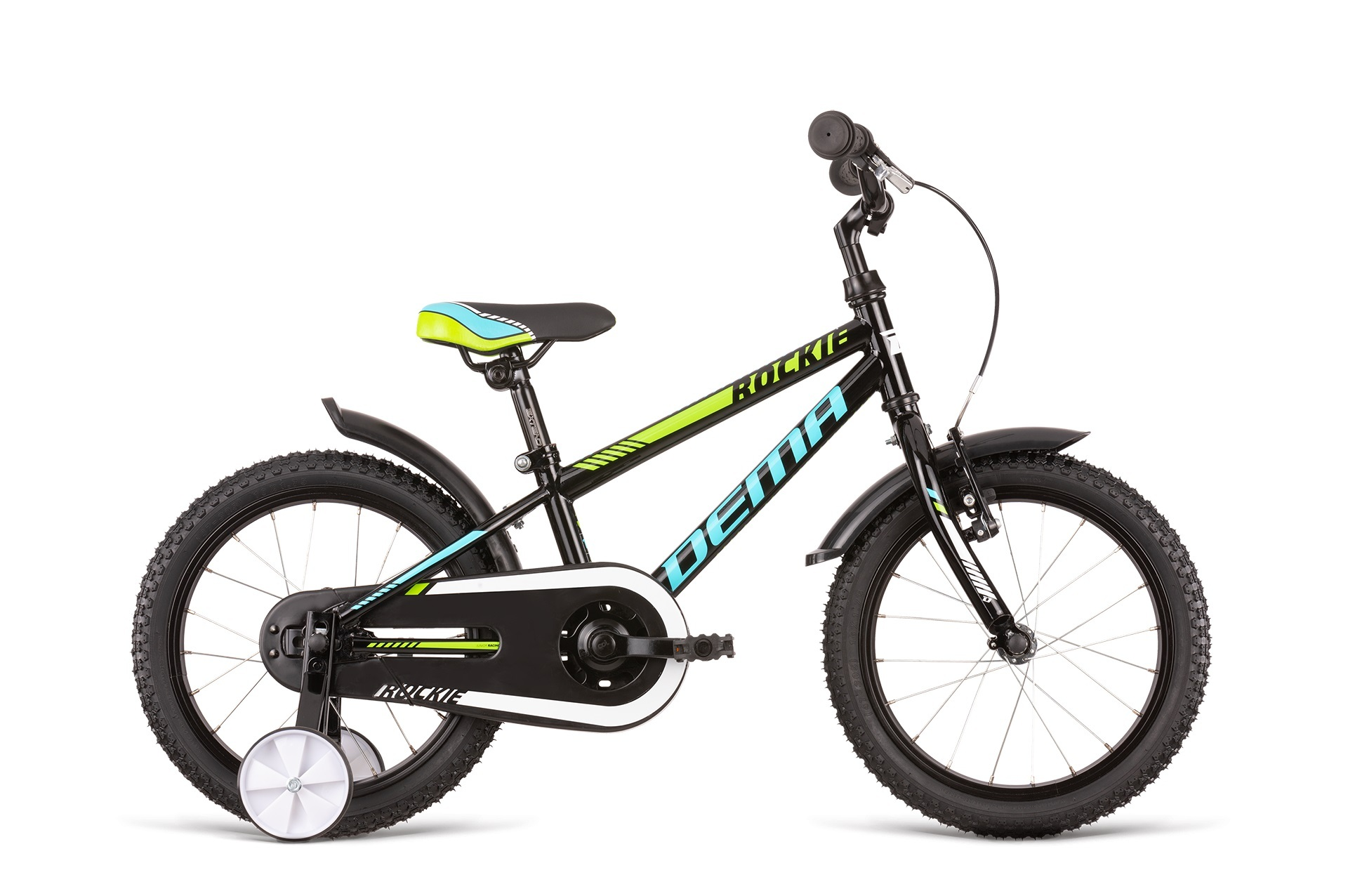 Bicykel Dema ROCKIE 16 neon yellow-black