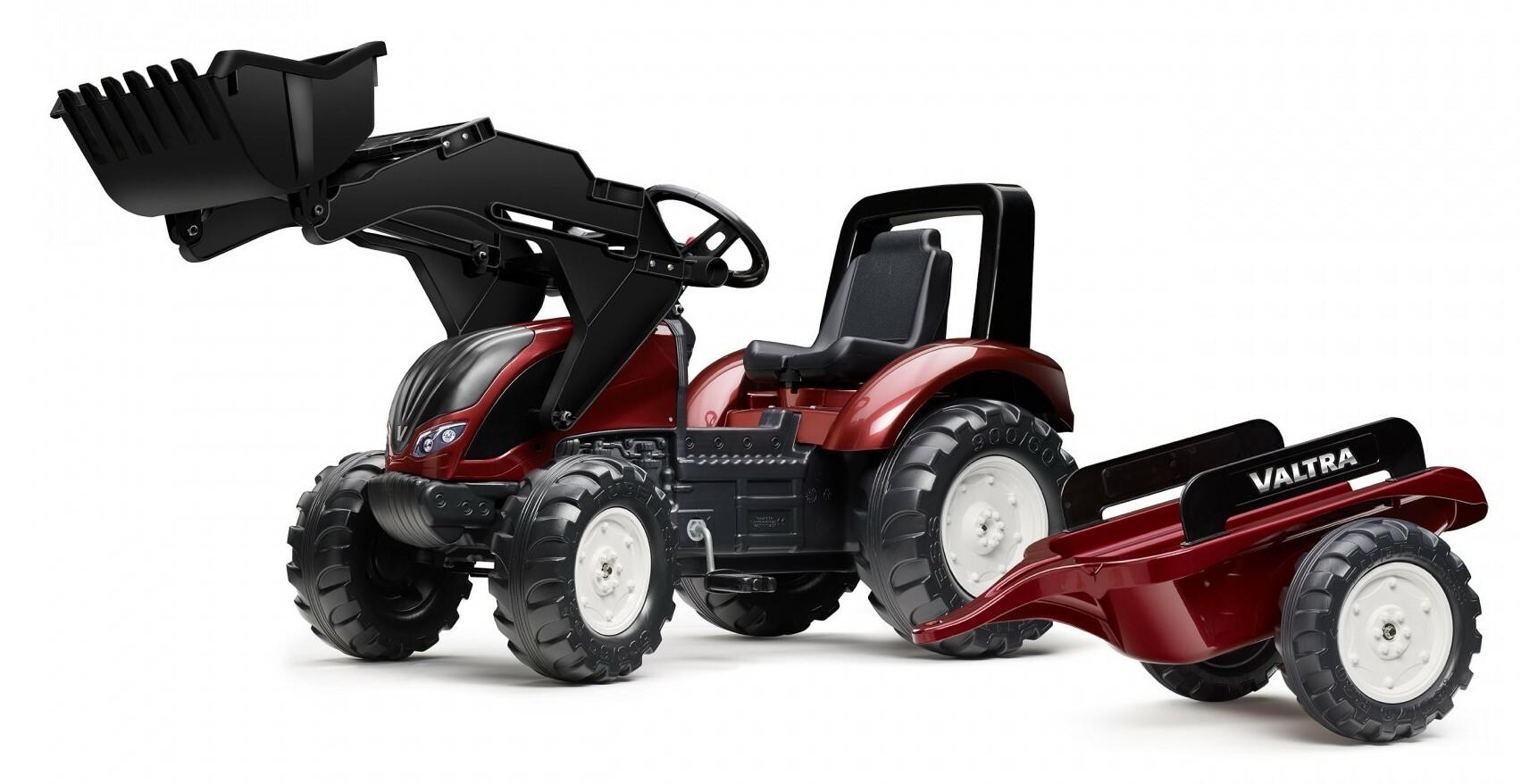 FALK Šliapací traktor 4000AM VALTRA S4 s predným nakladačom a vlečkou