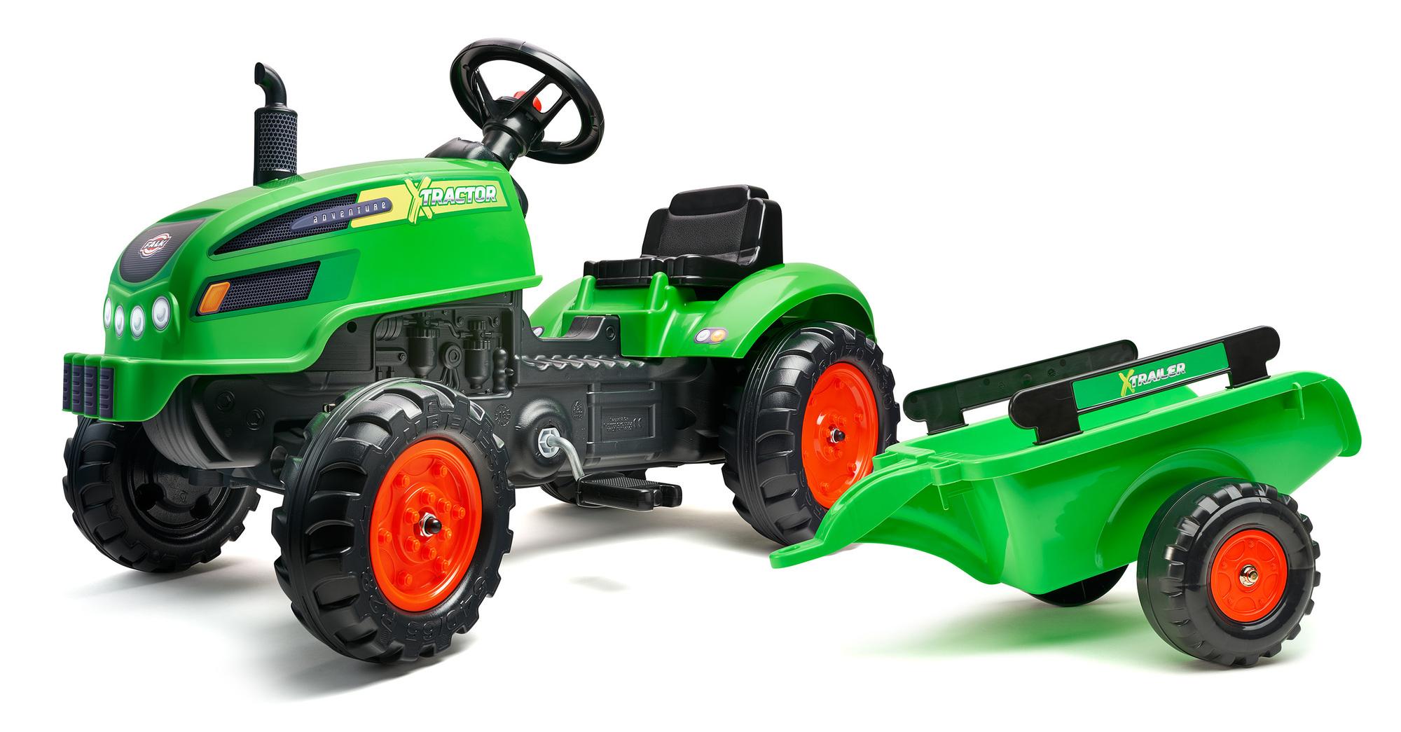 FALK Šliapací traktor 2048AB X-Tractor s vlečkou a otváracou kapotou