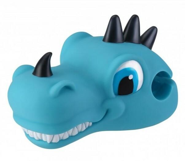Globber ozdobná hlavička pre kolobežku - dino blue