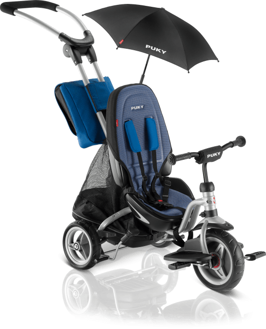 AKCIA - PUKY Detská trojkolka - Ceety CAT S6 Silver/Blue 2018