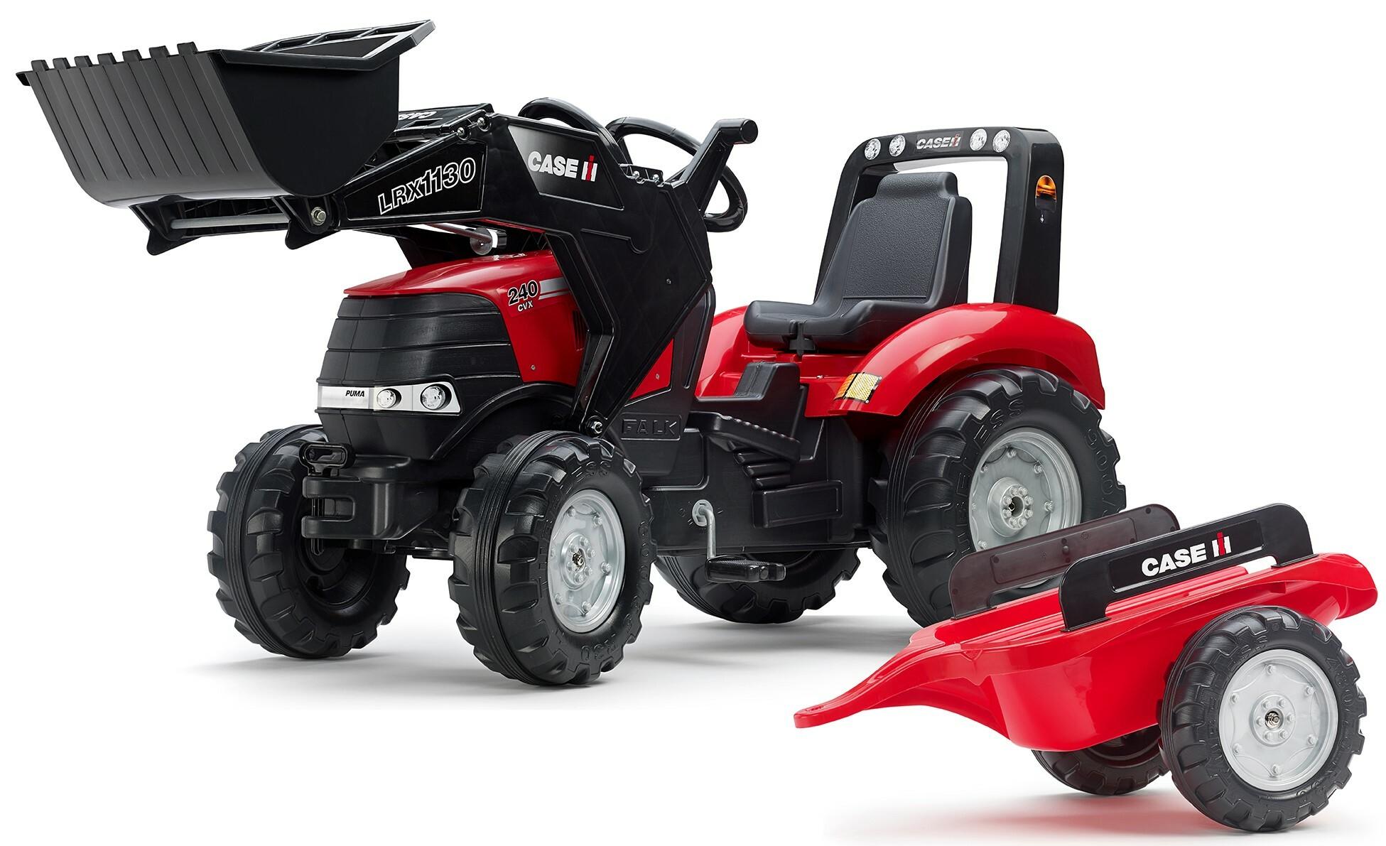 FALK Šliapací traktor 996AM Case IH Puma 240CVX s nakladačom a vlečkou