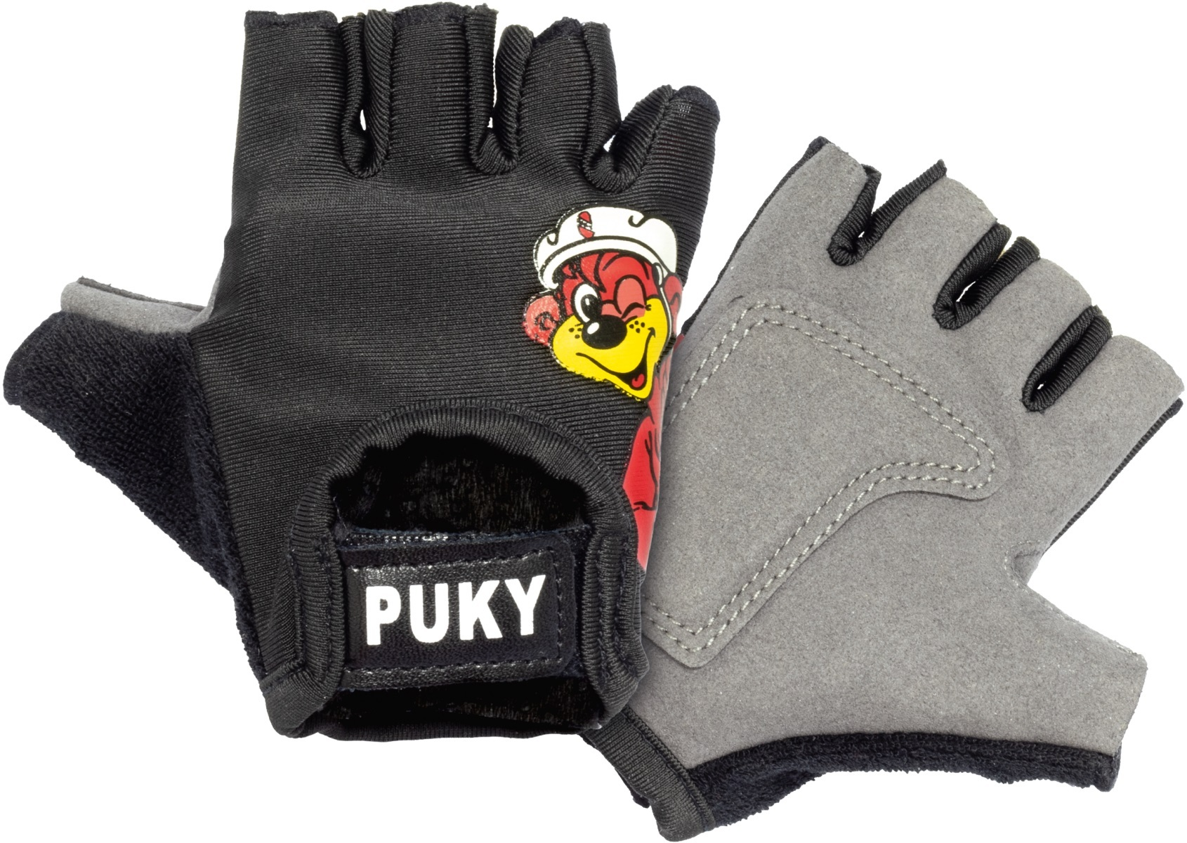 PUKY Cyklistické rukavice S - čierne