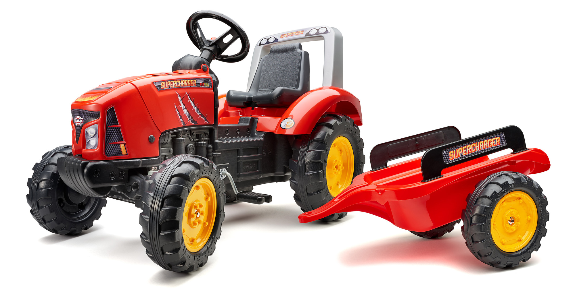 FALK Šliapací traktor 2020AB Supercharger červený