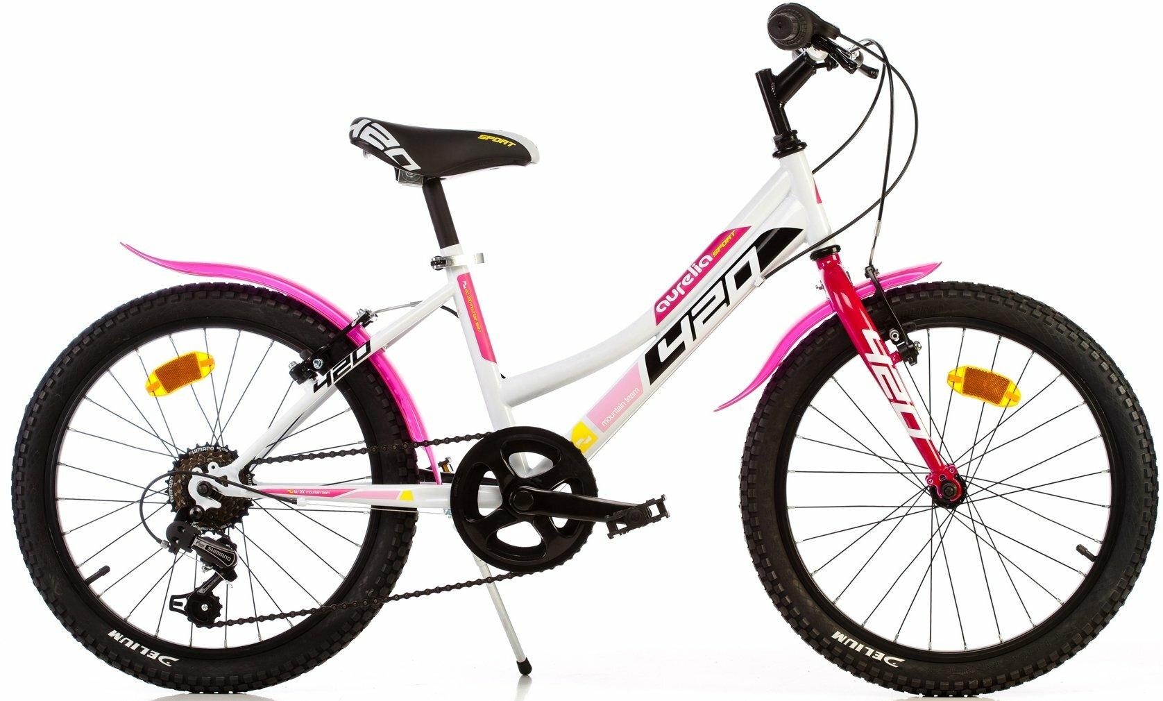 "DINO Bikes - Detský bicykel 20"" 420D - AURELIA Sport ružový 2017"