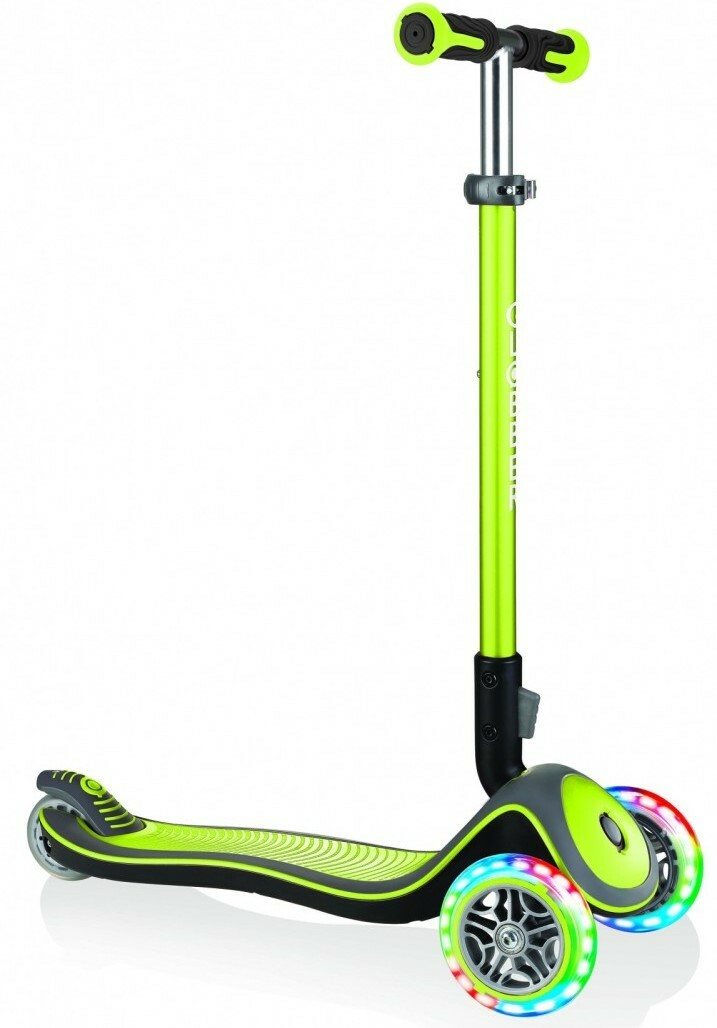 Globber Kolobežka Elite Deluxe Lights Lime Green