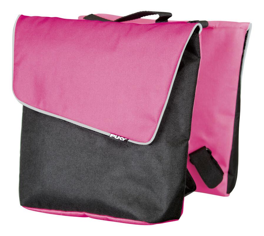 PUKY Dvojitá zadná taška D3 - rúžová