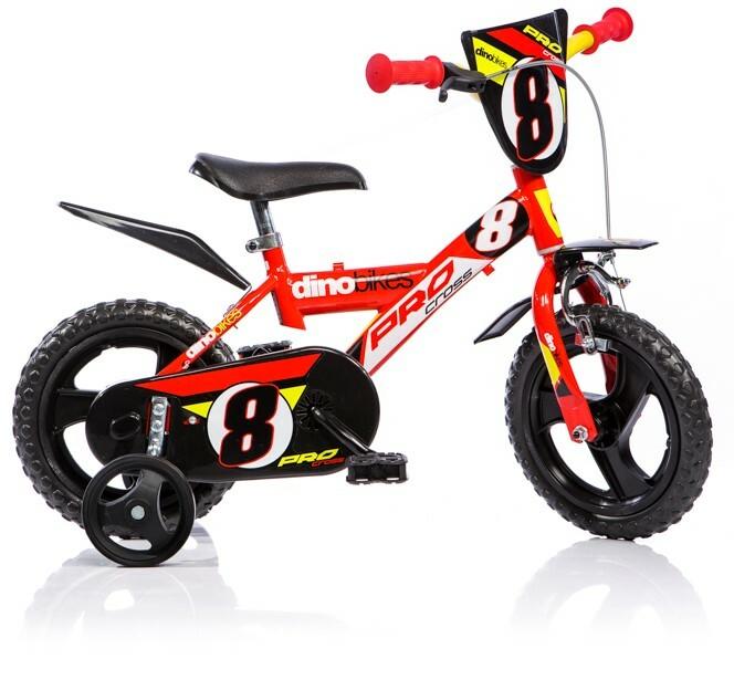 "DINO Bikes - Detský bicykel 12"" 123GLN - červený 2017"