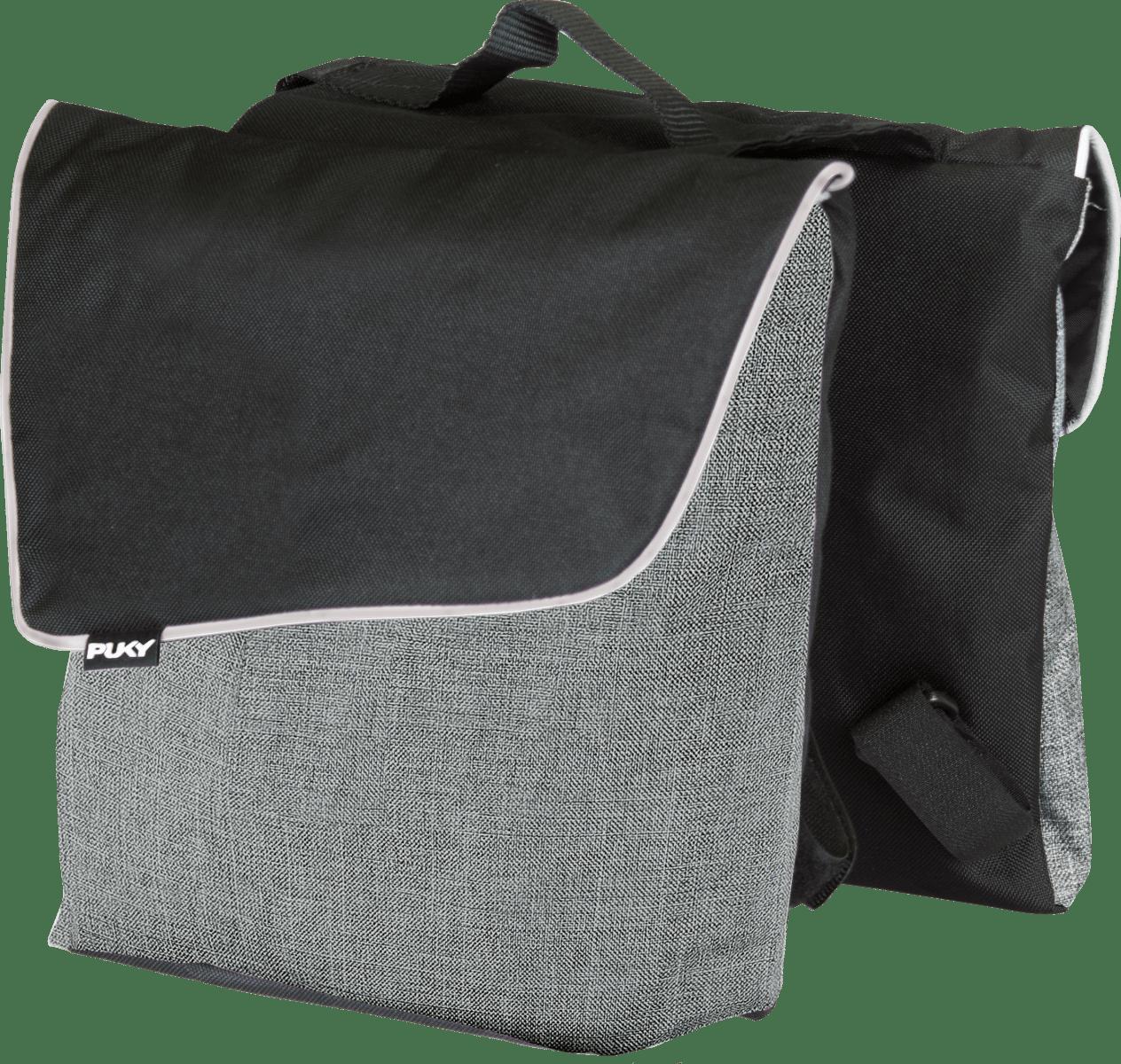 PUKY Dvojitá zadná taška D3 - sivá
