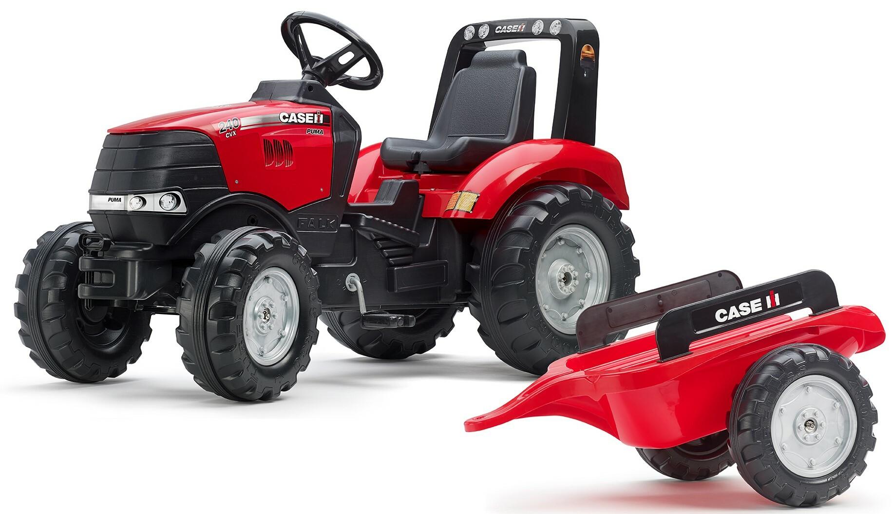 FALK Šliapací traktor 996AB Case IH Puma 240CVX s vlečkou