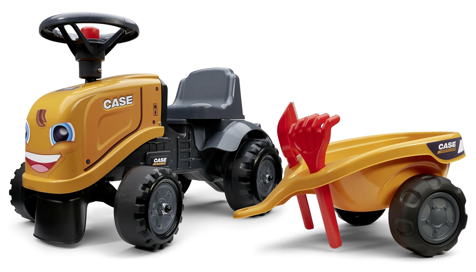 FALK Odrážadlo 297C Baby Case CE s vlečkou a lopatkou s hrabličkami
