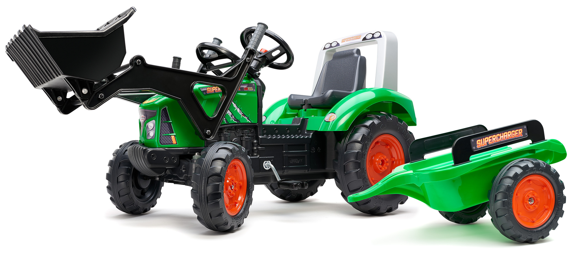 FALK Šliapací traktor 2021M Supercharger zelený