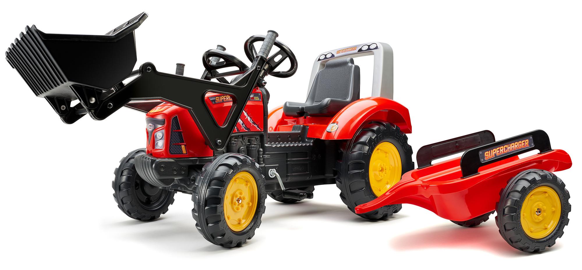 FALK Šliapací traktor 2020M Supercharger červený