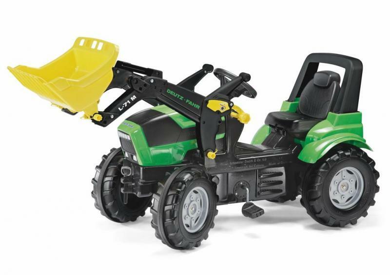 Rollytoys Šliapací traktor Deutz Agrotron s nakladačom zelený