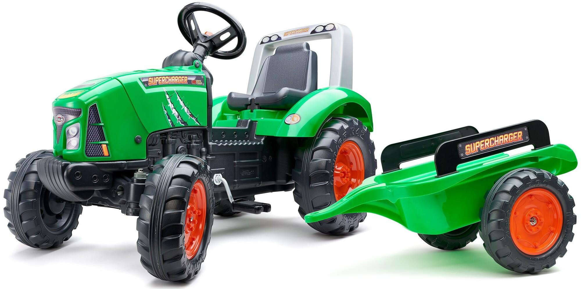 FALK Šliapací traktor 2021AB Supercharger zelený