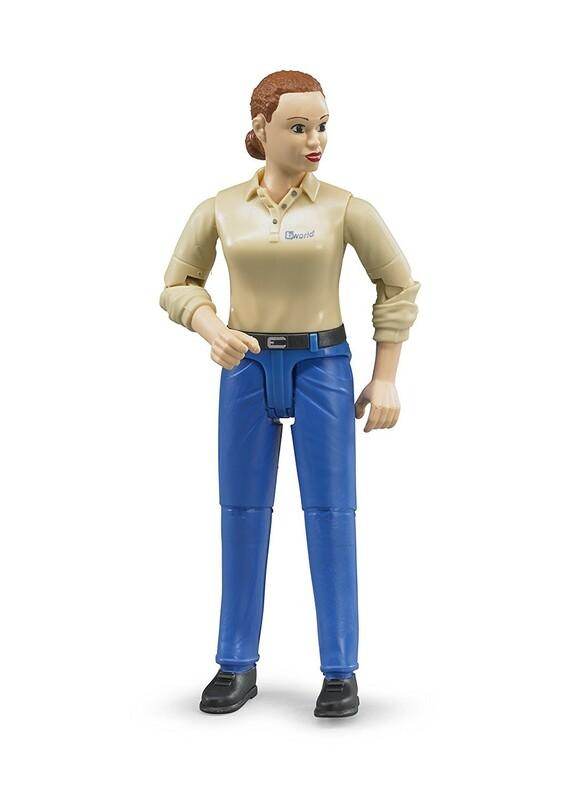 Bruder 60408 Bworld kisplasztika Nő kék nadrág